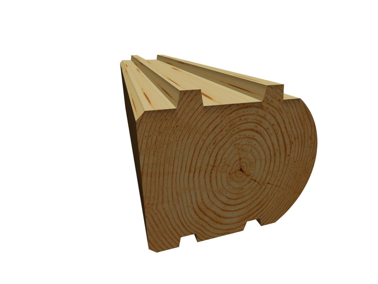 Блок-хаус брус 192х142х6000 мм ель профиль: П-образный (шип-паз)